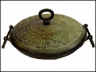 BRONZE BOWL WITH LID