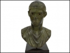 CHARIOTEER SMALL BRONZE BUST