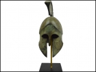 CORINTHIAN BRONZE HELMET WITH OWLS