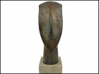 CYCLADIC BRONZE HEAD ON MARBLE BASE